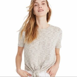 Madewell Knot Front Sweater Tee XL